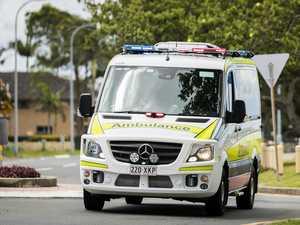 Cyclist hospitalised after car, bike crash