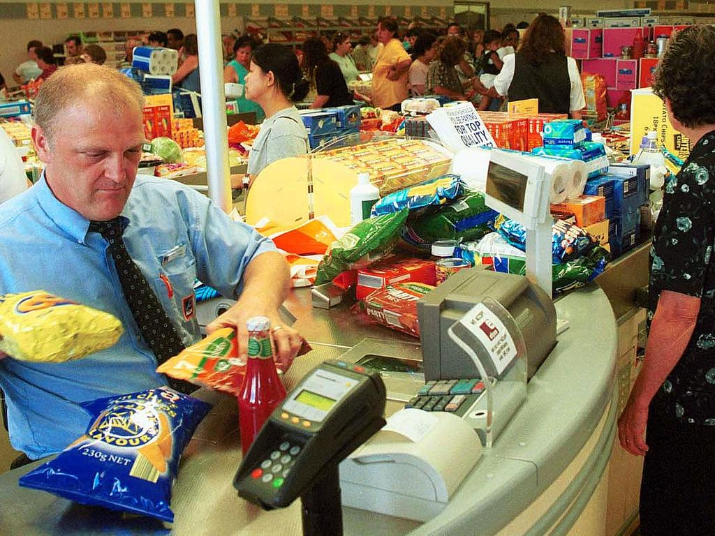 Aldi checkouts are small for a reason. Picture: Armen Deushian