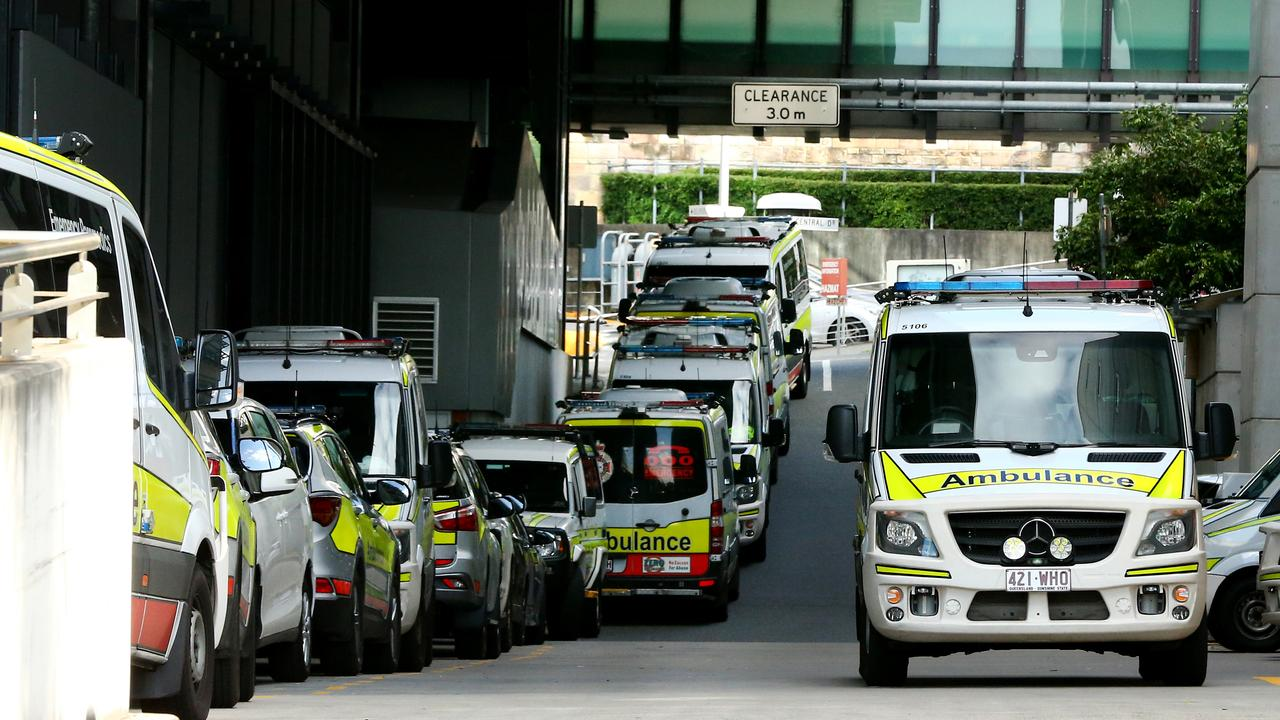 Ambulance bay area at the Royal Brisbane Hospital. Picture: AAP/David Clark