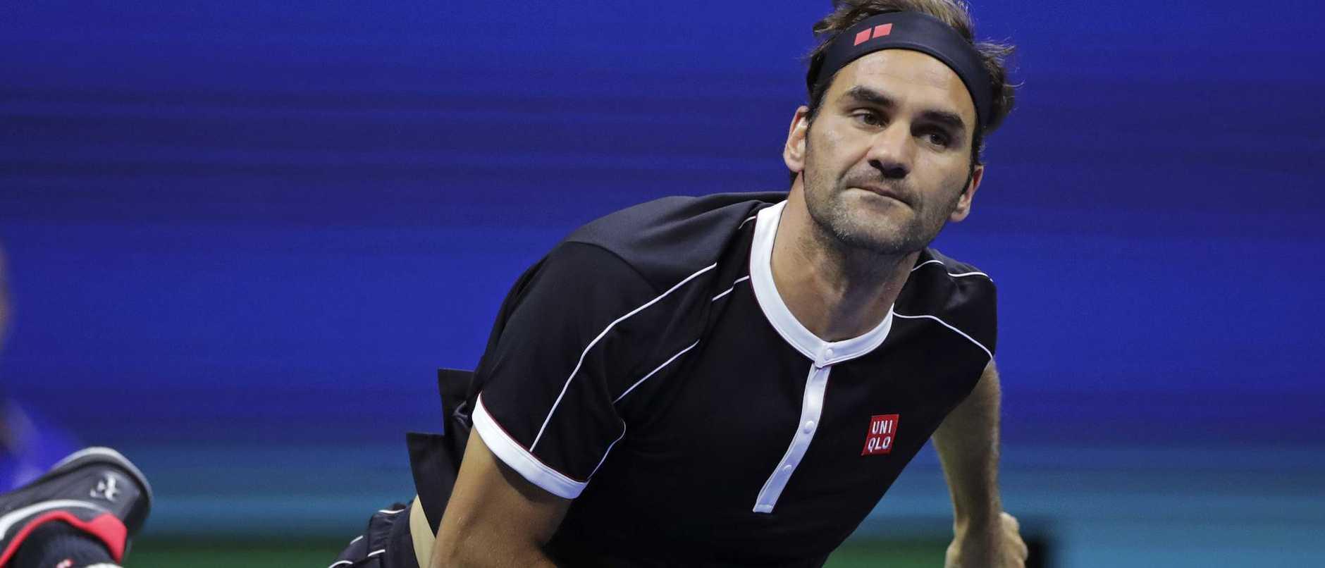 Federer started well.