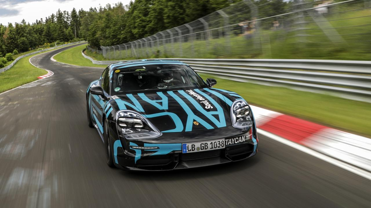 Porsche Taycan sets four-door EV speed record