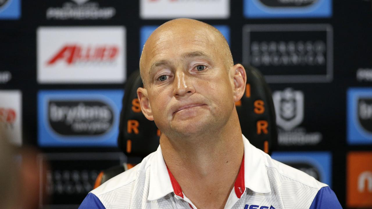 Nathan Brown will leave Newcastle effective immediately. Picture: Darren Pateman