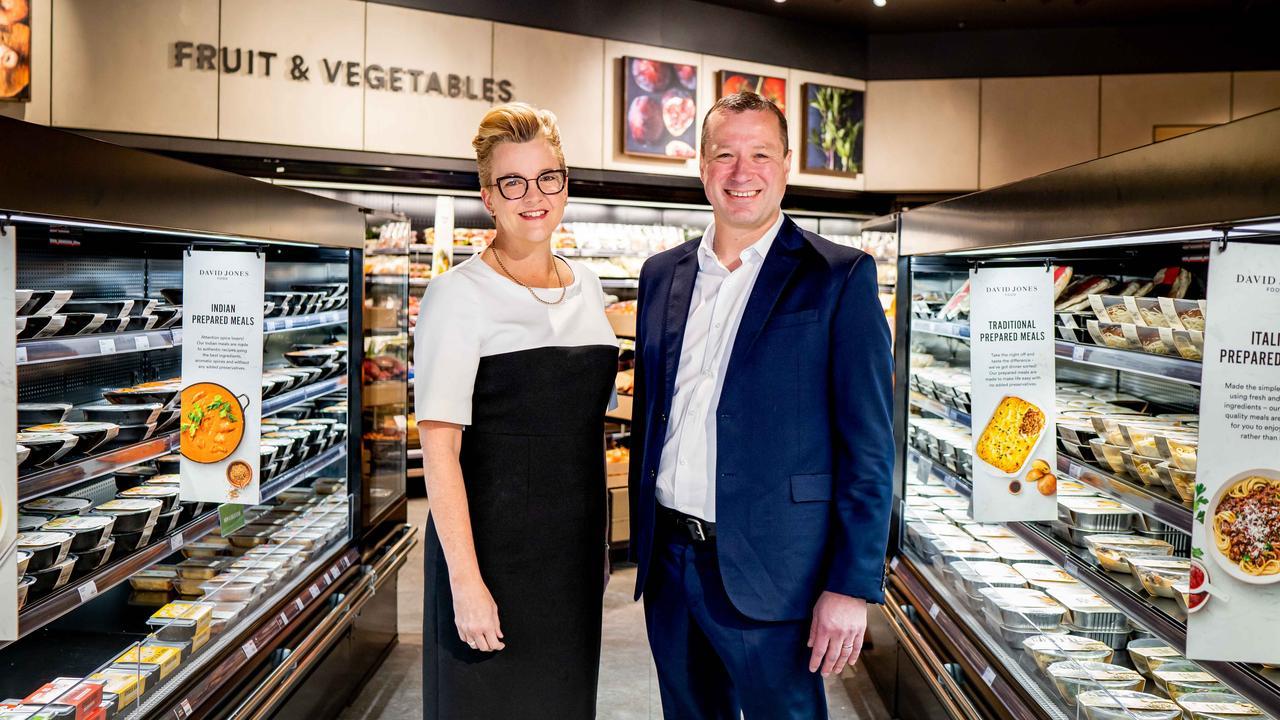 BP Australia vice president sales and marketing Brooke Miller and David Jones Food managing director Pieter de Wet.
