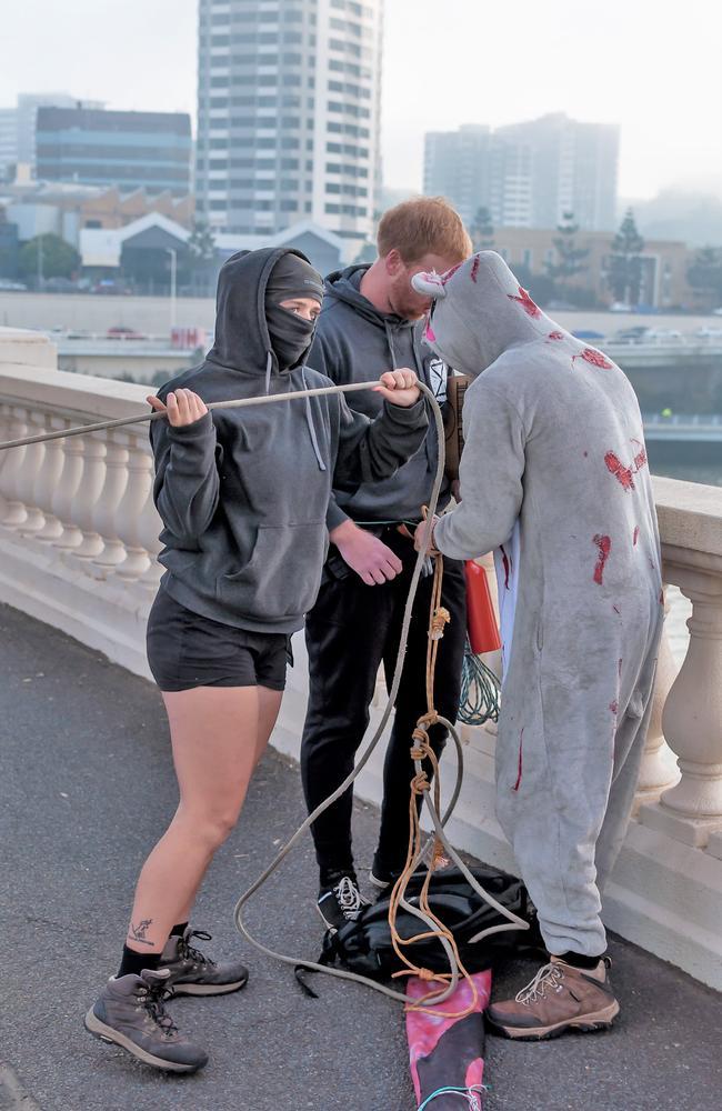 Sean Nolan on the bridge last week. Picture: Supplied.
