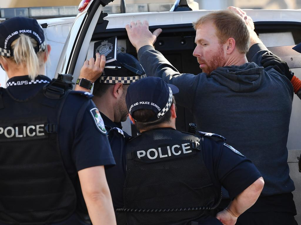 Sean was arrested after the stunt. (AAP Image/Darren England).