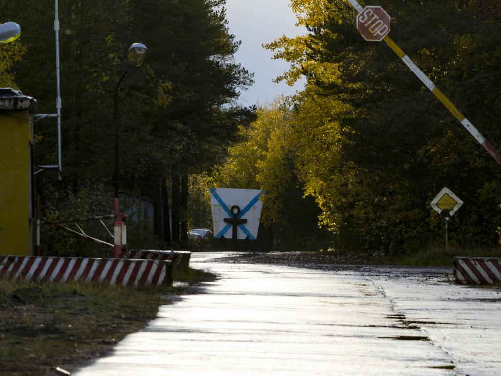 The entrance to The State Central Navy Testing Range near the village of Nyonoksa, northwestern Russia. Picture: AP Photo/Sergei Yakovlev, File
