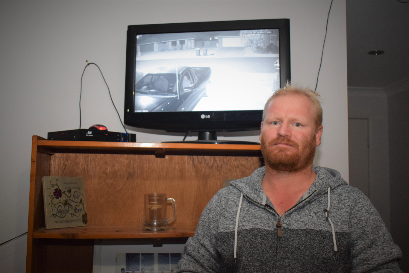 CHANGE THE SYSTEM: Daniel Braxton says Chinchilla is no longer a safe place to raise a family. Despite spending hundreds on home security cameras he is still regularly visited by youths trying to break in and steal from his property.