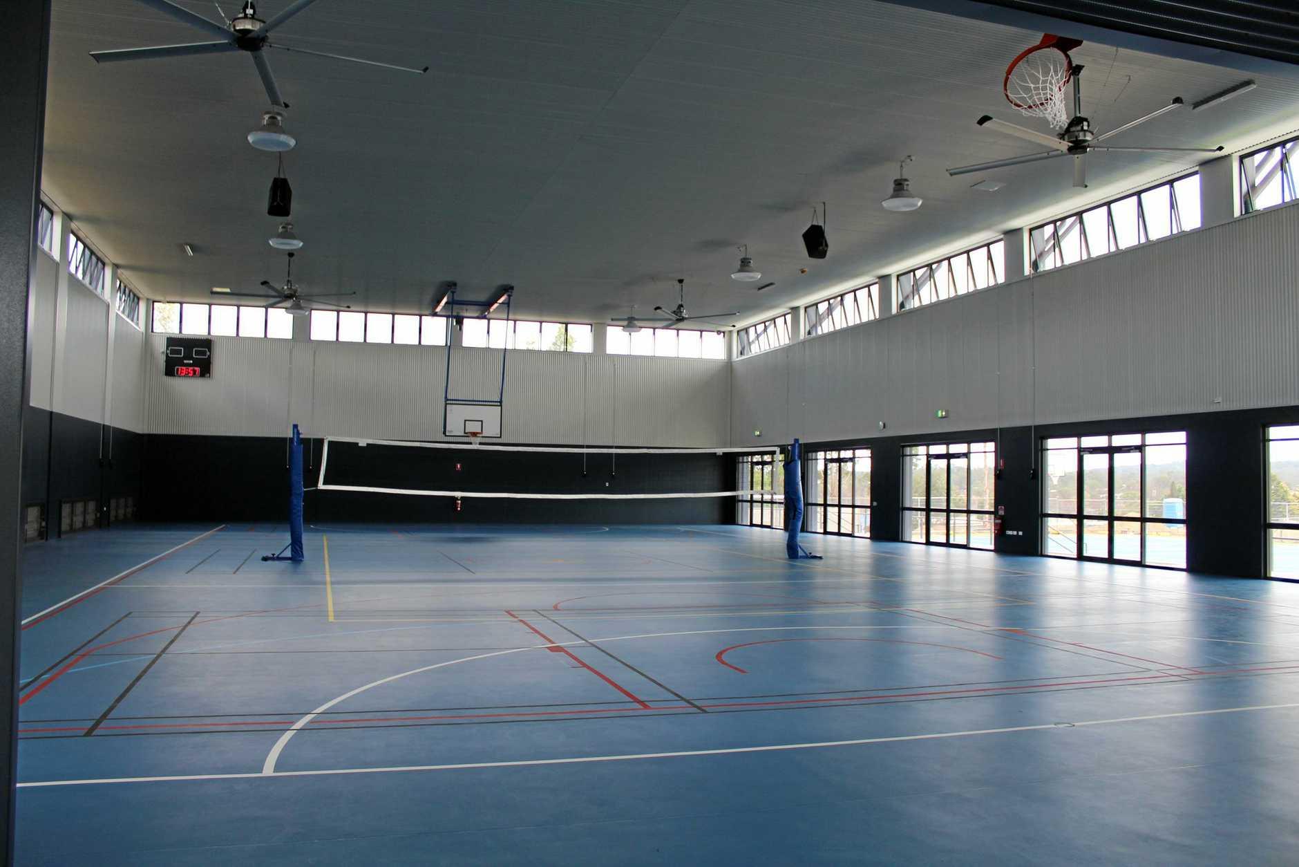 Assumption College sports centre interior