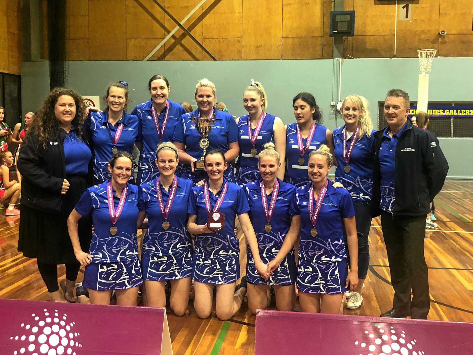 The 2017 and 2018 SEQ Cup champions Goodna Sapphires team ready to chase another title this season.