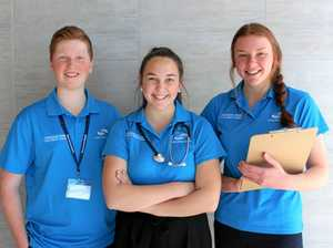 Year 11 students get their start at Ipswich Hospital