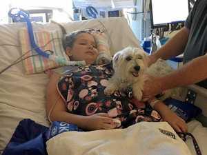 Little battler talks six weeks after horrific accident