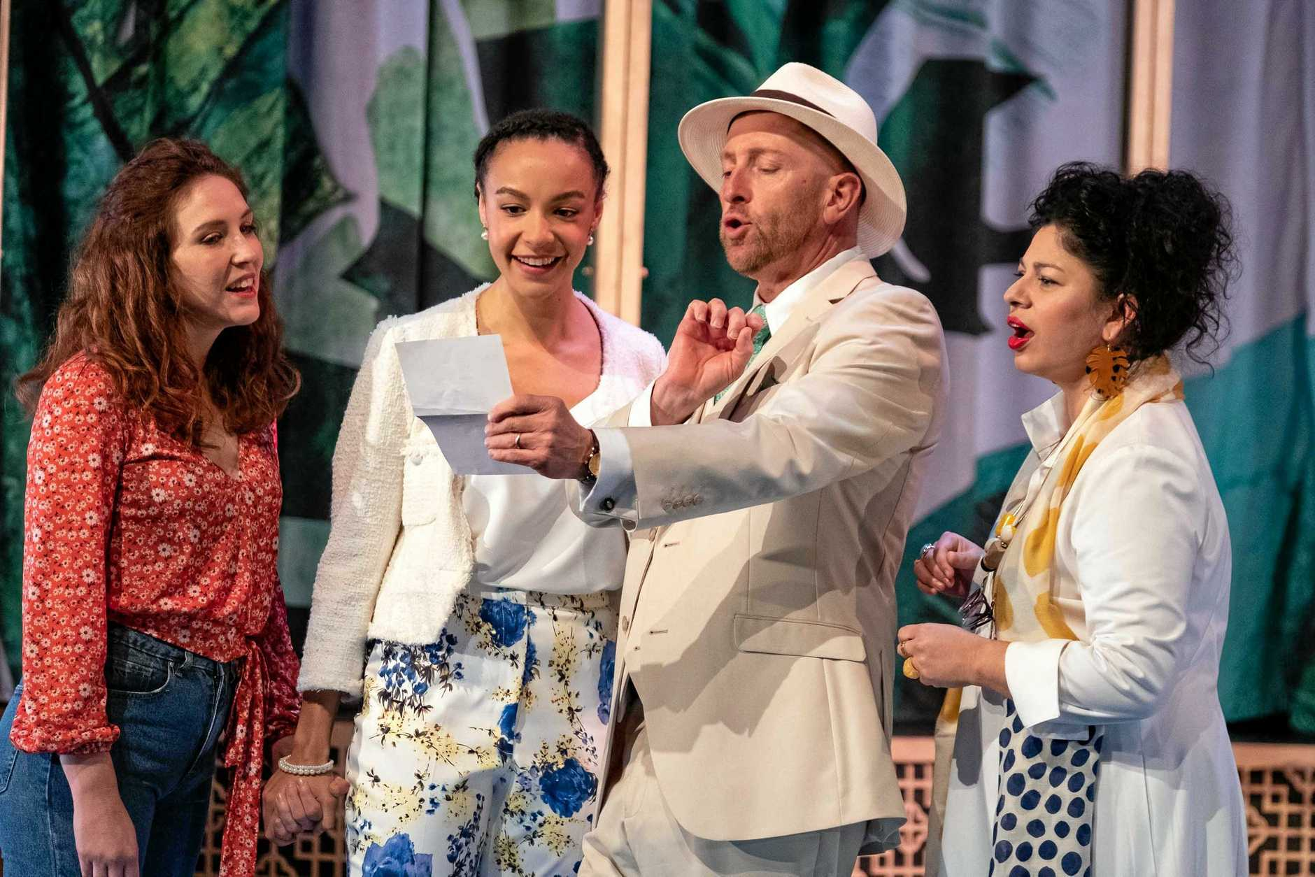 SHINE BRIGHT: Marissa Bennett, Vivienne Awosoga, David Whitney and Suzanne Pereira star in Bell Shakespeare's  Much Ado About Nothing .