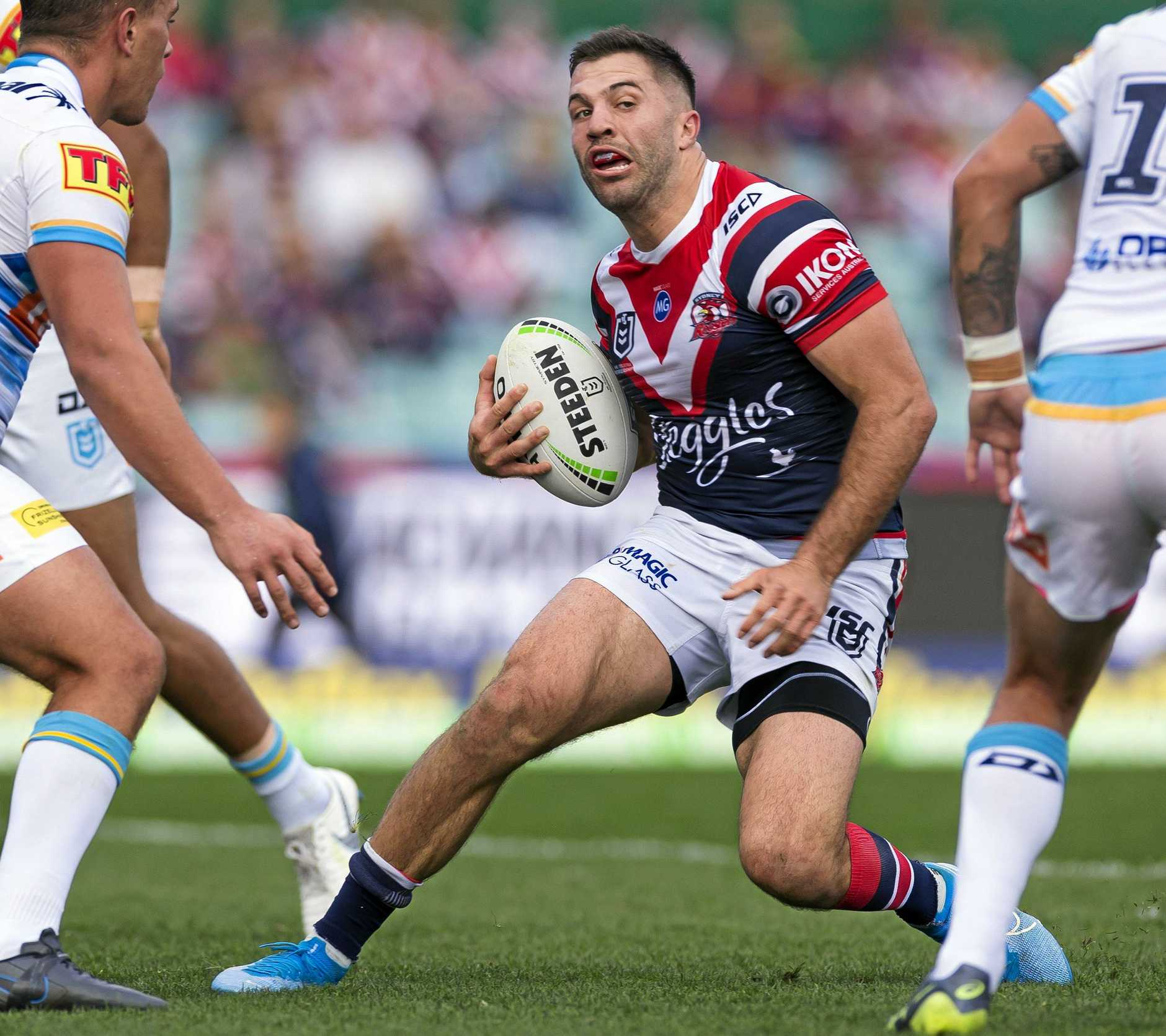 James Tedesco and his Roosters teammates will test the Panthers defence.