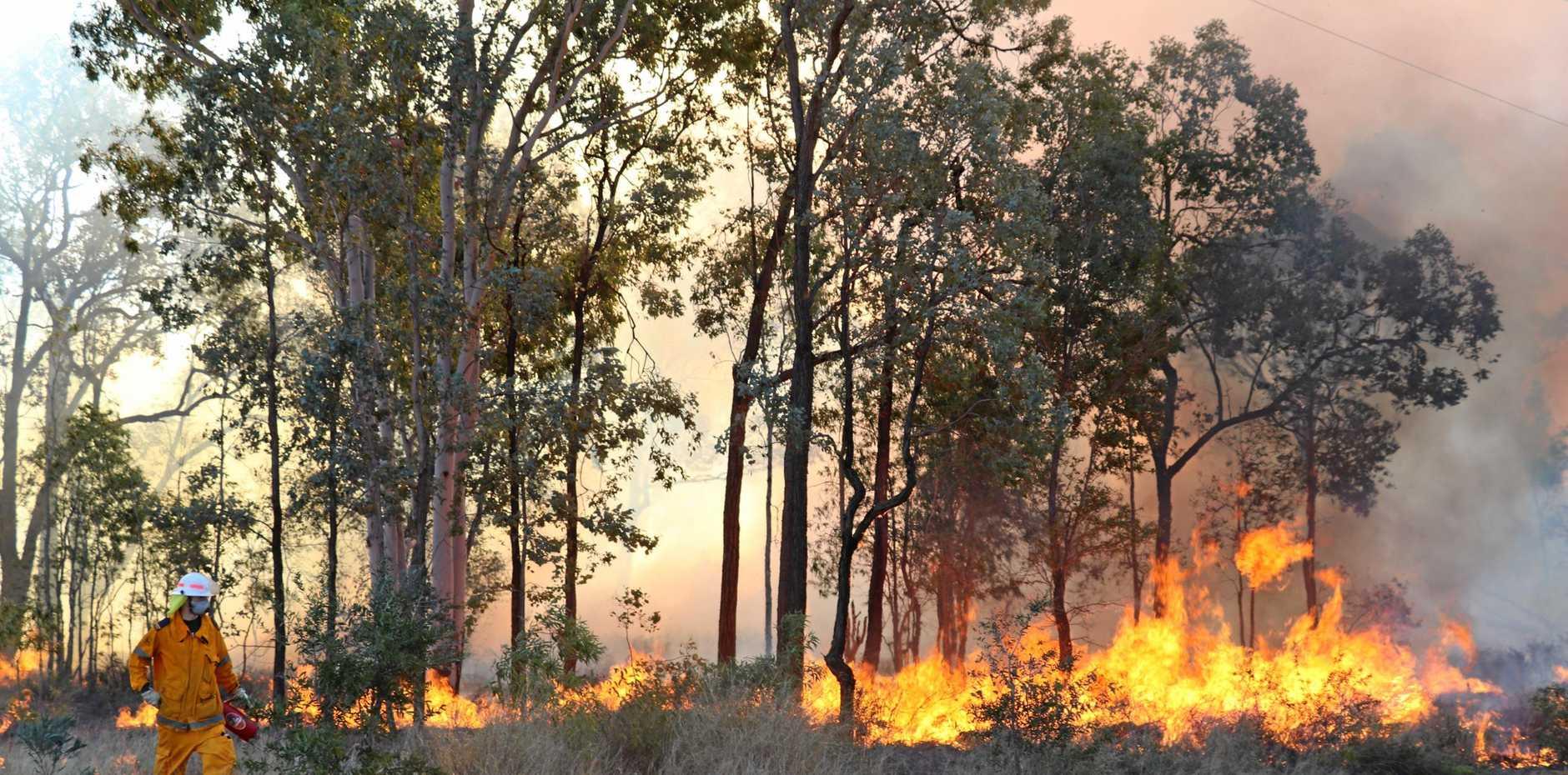 Hazard reduction burn at Emerald Airport on August 3.