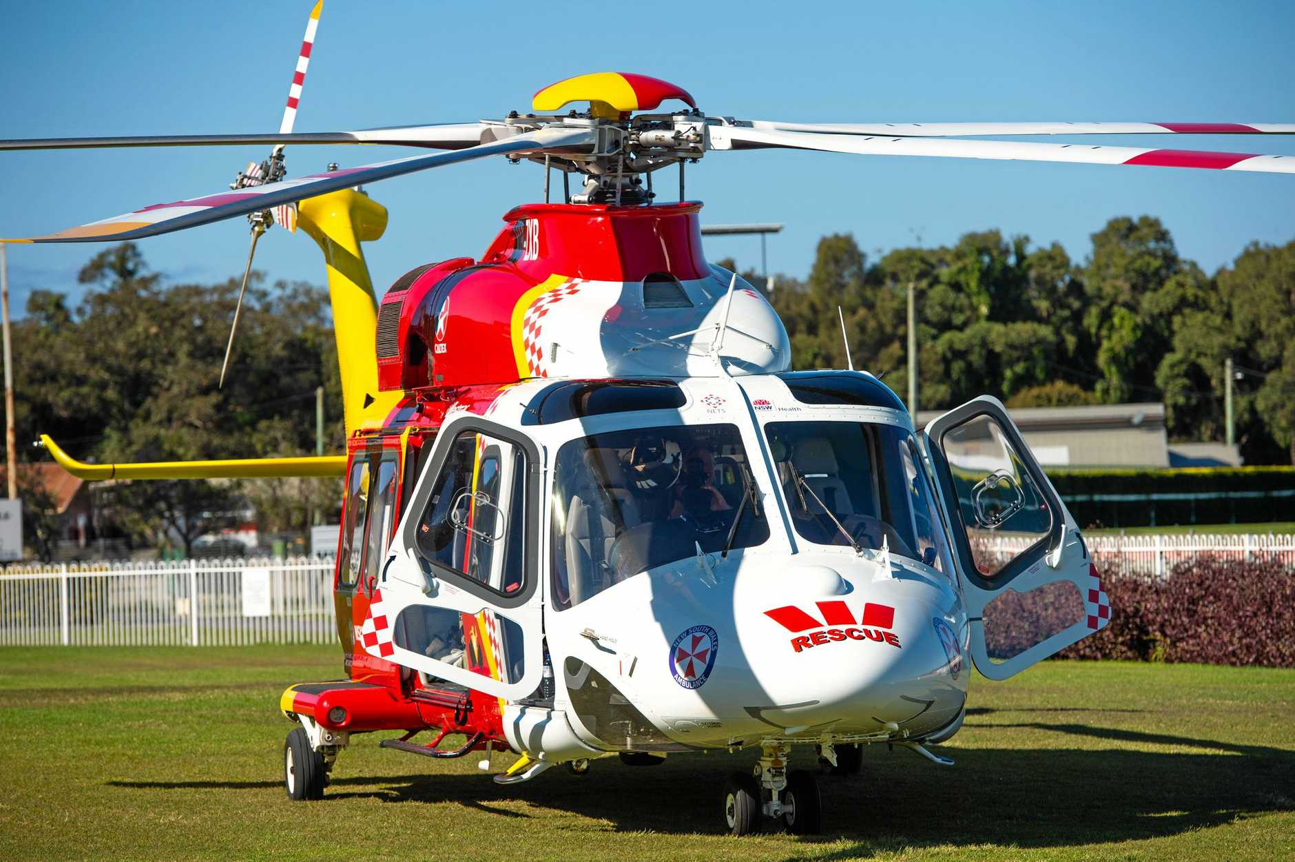 Westpac Rescue helicopter.