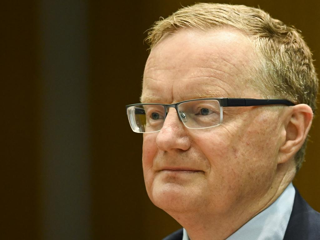 Governor of the Australian Reserve Bank Philip Lowe. Picture: AAP Image/Lukas Coch