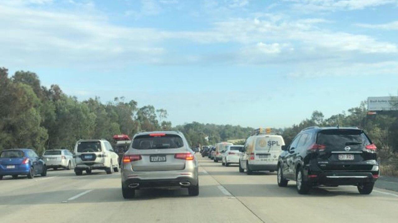 Heavy traffic on the M1.