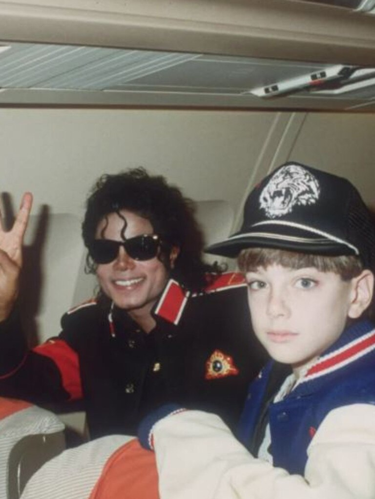 Michael Jackson and James Safechuck.