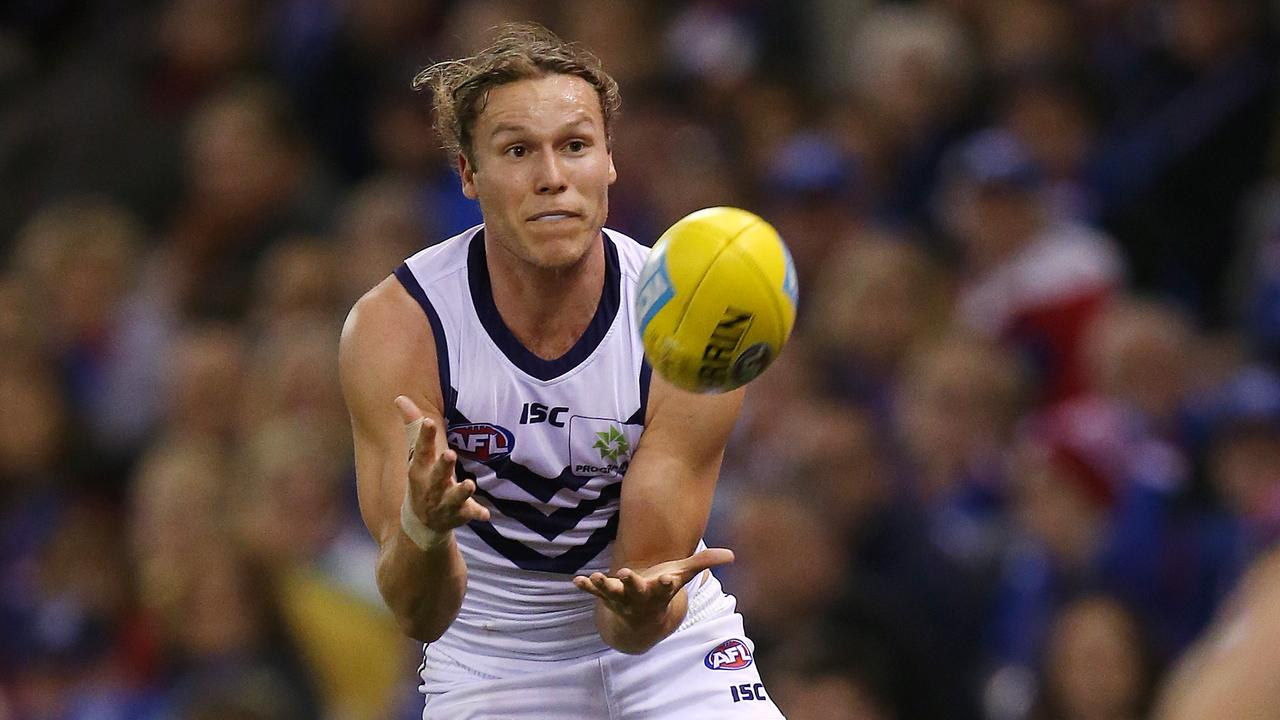 Ed Langdon of the Dockers is set to join Melbourne. Picture: Michael Klein