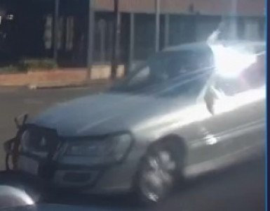 Police are searching for this vehicle involved in a hit and run incident at the corner of Ruthven and Campbell Sts about 9.40am on July 25.