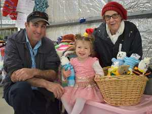 Anthony Ricca with daughter Grace and Evelyn