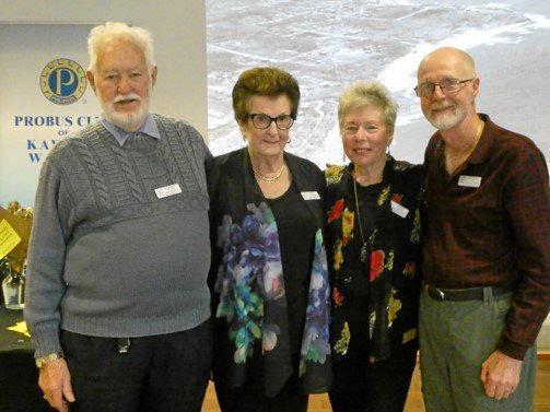 LIFE MEMBERS:  Kawana Waters Probus club members Gordon and Beth Lattimer, Jenny and Leigh Baker.