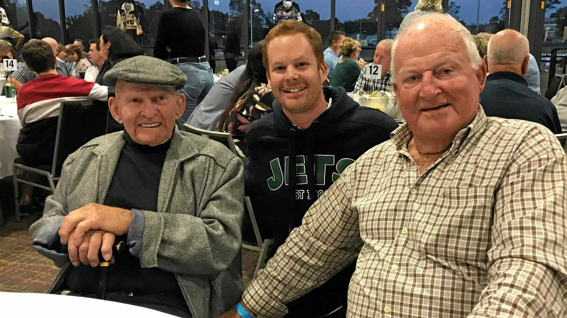 QT rugby league columnist Michael Nunn was delighted to catch up with two Ipswich-bred greats Gary Parcell and Noel Kelly at the latest Jets Old Boys function. Parcell and Kelly were two-thirds of the Australian team's front row in 1960.