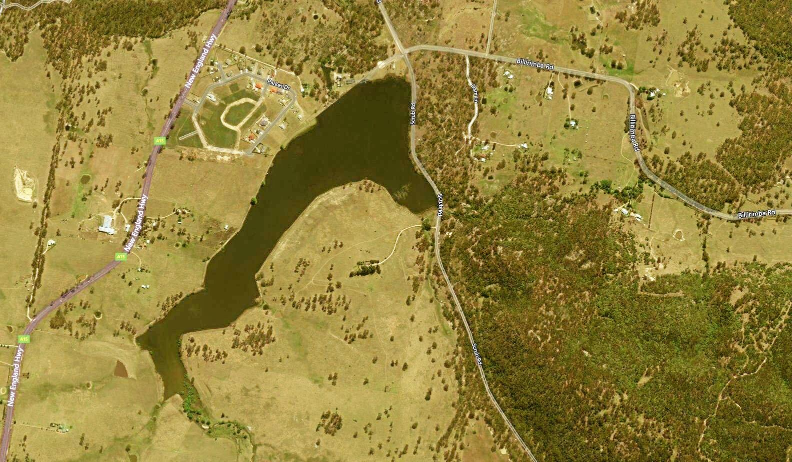SHOCKING: GeoSciences Australia has captured this satellite image of Tenterfield Dam as it currently sits on August 28, 2019.