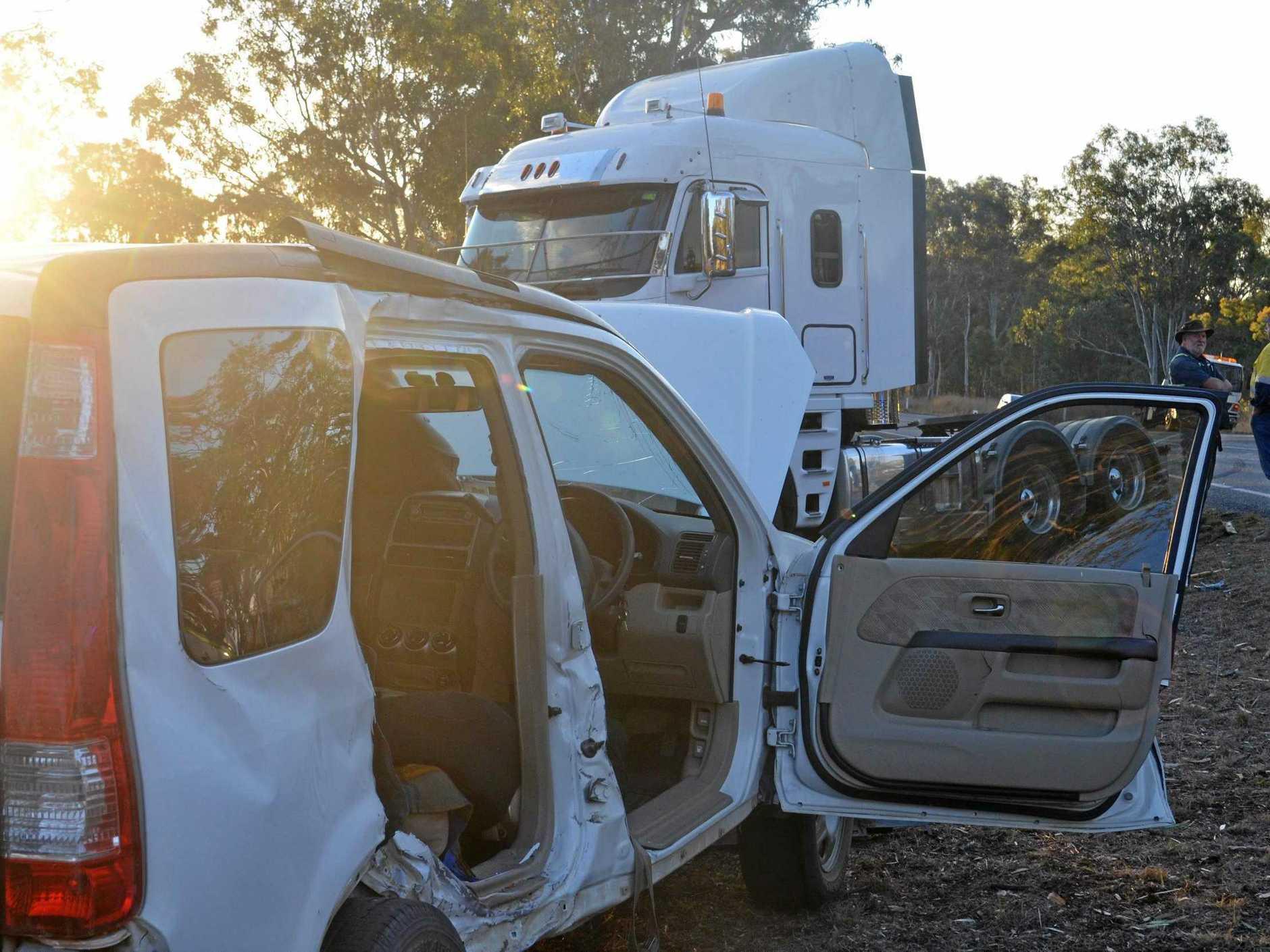 TRAFFIC COLLISION: The crash left three elderly people injured.