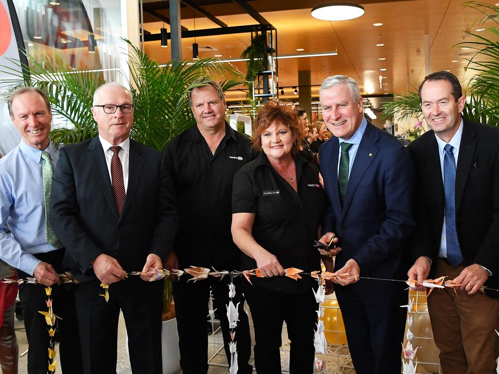 Official opening of the $33 million Stockland Baringa town shopping centre, the first of various retail centres planned for Aura. Photo Patrick Woods / Sunshine Coast Daily.