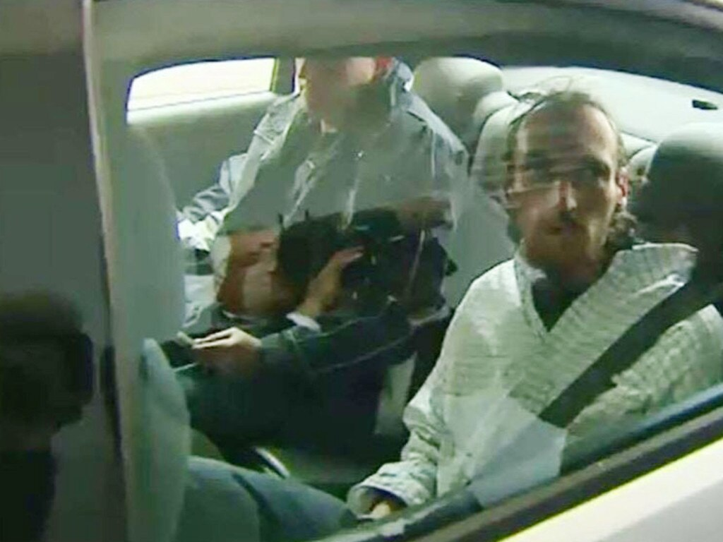 Benjamin Ernest Power was sentenced to nine years' jail for his role as 'lookout' on the night Damian Leeding was killed. Picture: 9NEWS