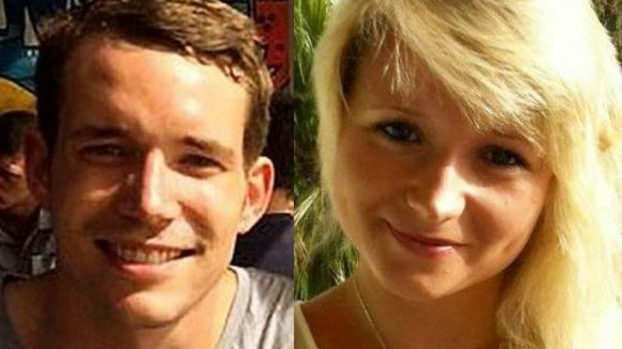 David Miller and Hannah Witheridge were killed while they were travelling in Thailand. Picture: Facebook