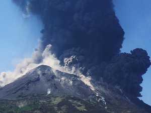 Desperate escape from volcano's fury
