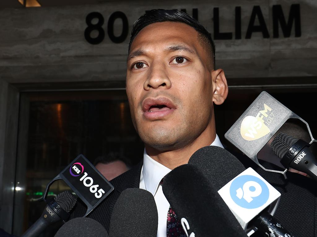 Israel Folau may not have been protected from being sacked by Rugby Australia under proposed new religious discrimination laws.. Picture: Mark Metcalfe/Getty Images