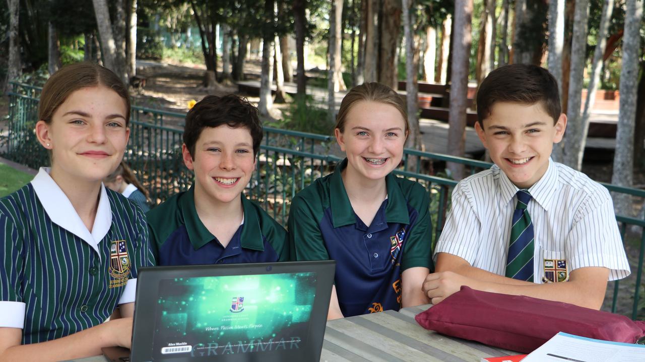 Sunshine Coast Grammar School students Sophie Posselt, Alex Mackle, Zara Kerin-Bird and Matthew Stanton. Photo: Contributed
