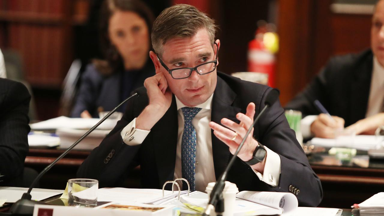 NSW Treasurer Dominic Perrottet pictured at the 2019-2020 Budget Estimates Hearing held at NSW Parliament in Sydney. Picture: Richard Dobson