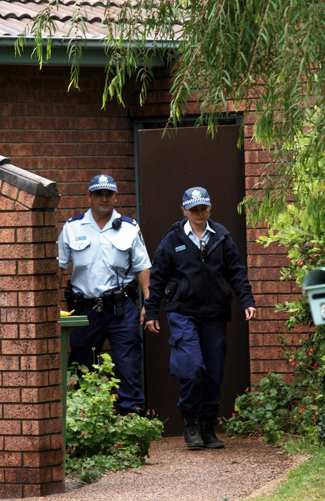Police arrive at the home of BW and SW after the mother ran from the media threatening to harm herself in the wake of the death of their daughter Ebony. Picture: Graham Crouch.