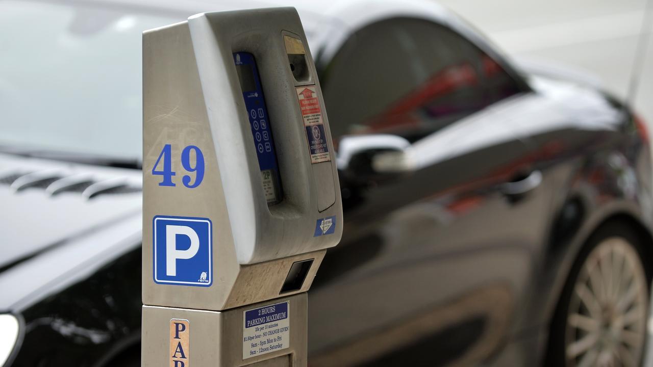 Parking meters, Bulcock Street, Caloundra.