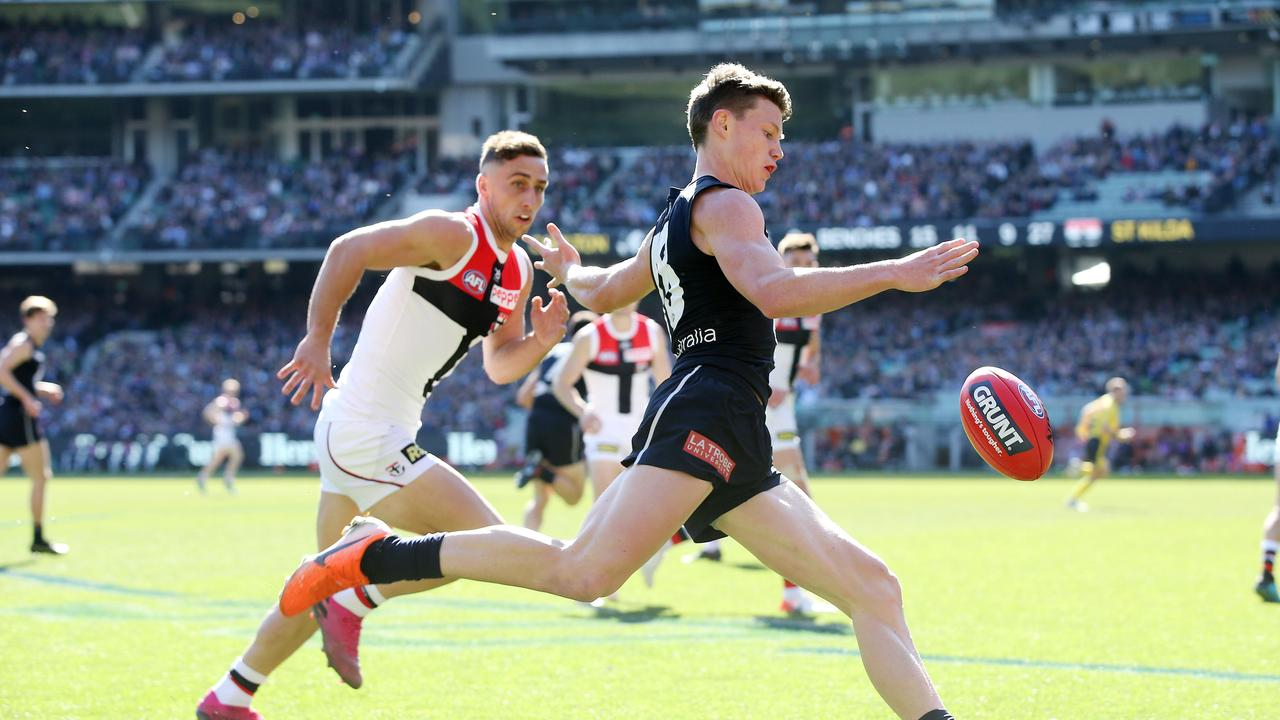 Sam Walsh has been become one of Carlton's most important players.. Picture: Michael Klein