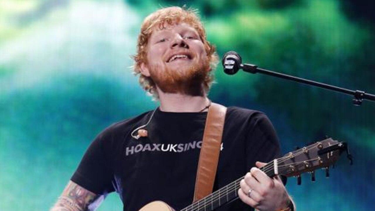 Ed Sheeran during his Australian tour in 2018. Picture: AAP Image/Josh Woning