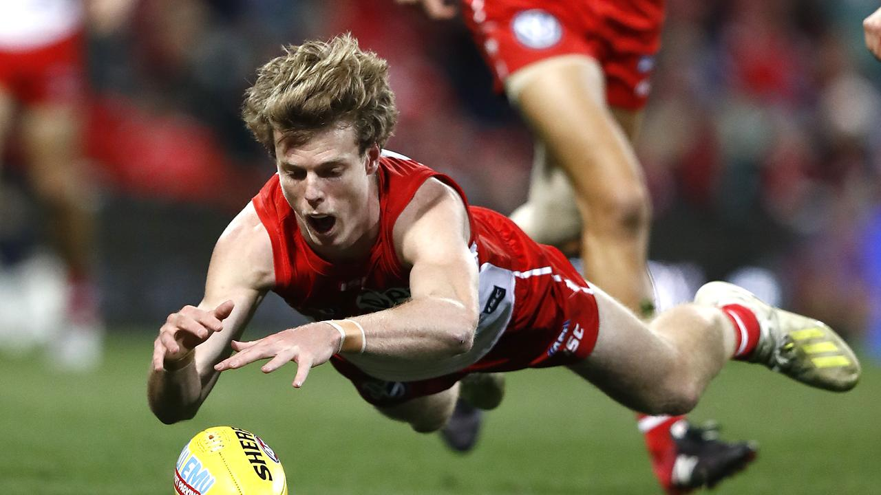 Nick Blakey has been a shining light for the Swans this season. Picture: Getty Images