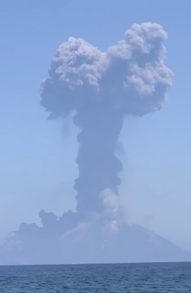 A similarly spectacular eruption in July on Stromboli killed an Italian hiker. Picture: Camilla Nocivelli via AP