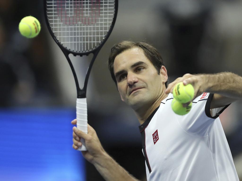 Why warm up, when you can warm up during the match. (AP Photo/Eduardo Munoz Alvarez)