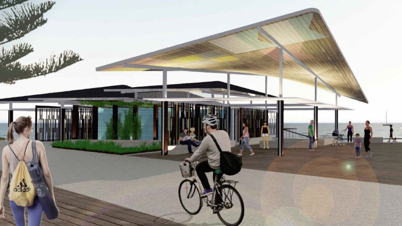 PLANS: The detailed design for the Mooloolaba foreshore redevelopment has given a glimpse of what it will look like. The Loo With A View is set for upgrade.