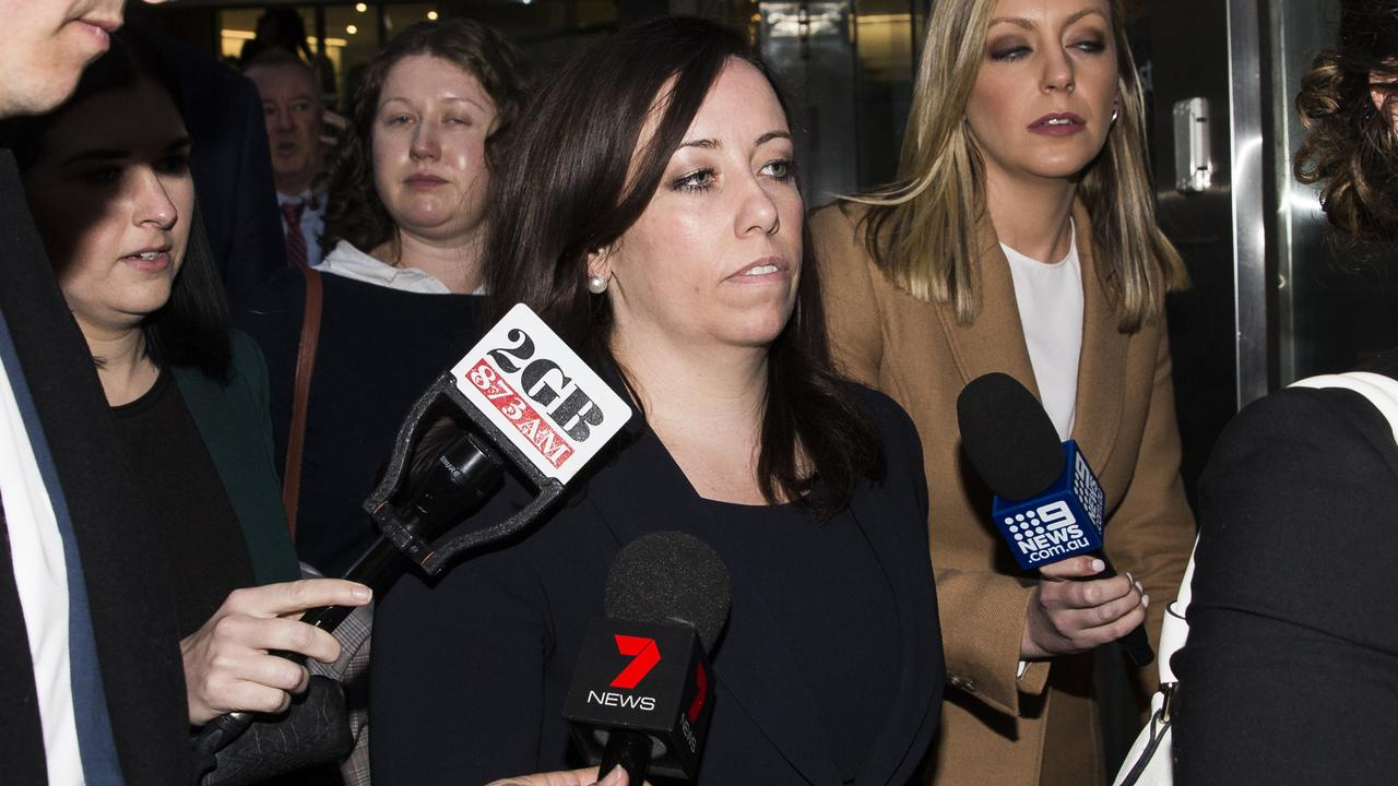 NSW Labor Party boss Kaila Murnain leaves the ICAC hearing on Wednesday. Picture: Dylan Robinson