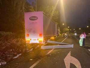 B-double crash causes delays