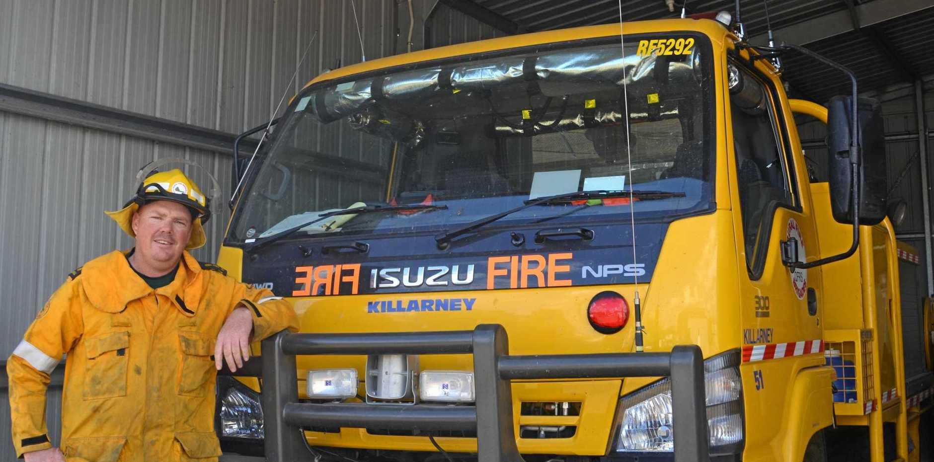 UP IN SMOKE: Killarney fire brigade first officer Wayne Petersen urges volunteers to sign up, in light of decreasing numbers.
