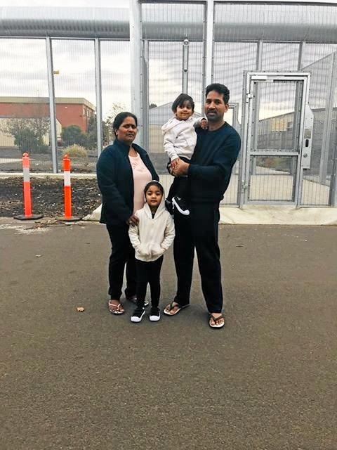 MENTALLY DRAINING: Lawyers for the Tamil family are working to keep the family grounded in Australia.