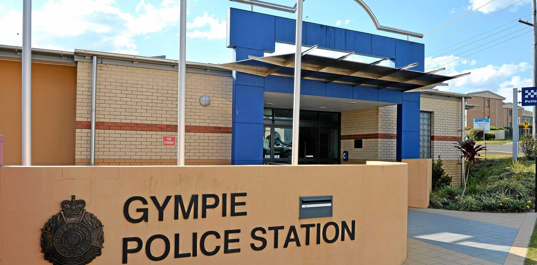 A GYMPIE man who spent nine days behind bars until his release yesterday drew a swastika on the front desk of the Gympie Police Station.