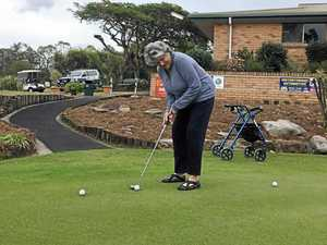 Judith enjoys a day on the greens